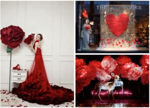 rode kleuren en geuren in commerciële ruimtes